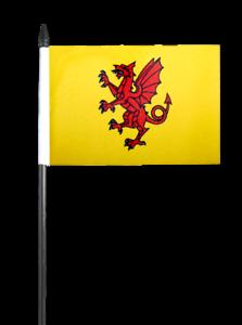 "5 X Devon County Hand Waving Flags 6/"" x 4/"""