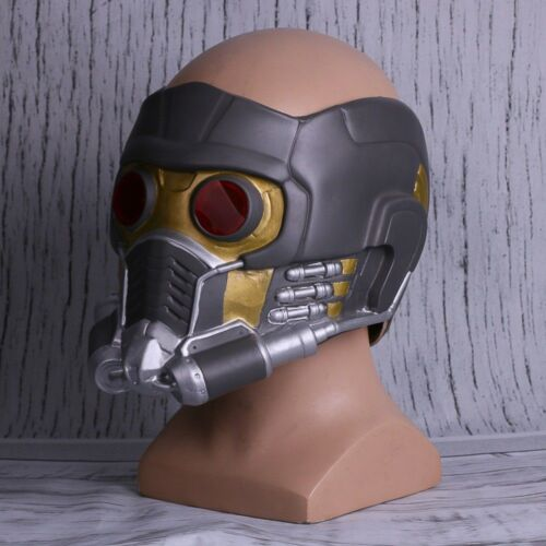 Cosplay Star Lord LED Helmet Latex Infinity War Quill LED Mask Superhero Props