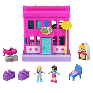 Polly-Pocket-Mattel-Pollyville-Diner-Multicolor
