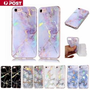 Marble-Pattern-Soft-Jelly-Silicone-Bling-Case-Cover-For-IPhone-5-6-78-Plus-X-SE