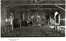 RPPC,Hollywood,CA.Country Church of Hollywood,Interior,1750 Argyll Ave,c.1945-50