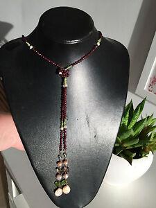 Original-Collar-infinito-Largo-con-perlas-oro-y-piedras-semipreciosas