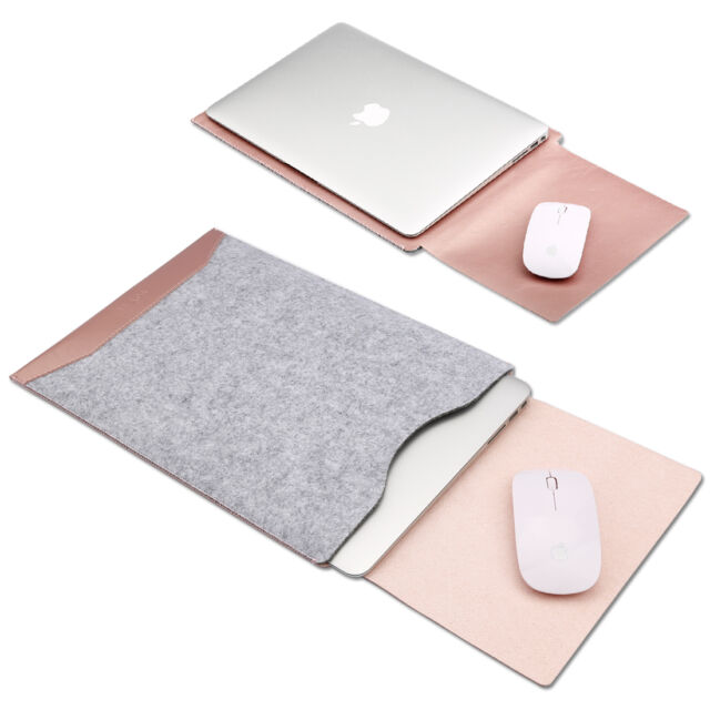 Felt Sleeve Case+Mat Mouse Laptop Cover Bag for Apple MacBook Pro, Retina & Air