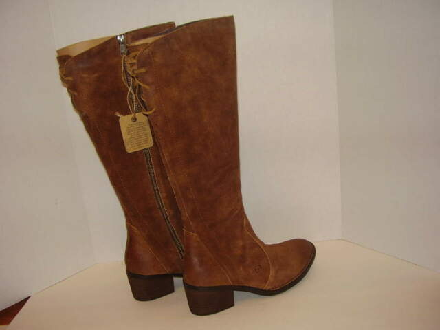 bbe81521e18 Born Felicia Suede Leather Knee High BOOTS Rust Sz 10m for sale ...
