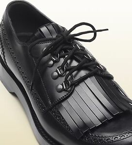 990-NEW-Gucci-Men-039-s-Leather-Fringed-Brogue-Lace-up-Shoe-sz-Italy-10
