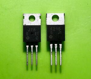Adaptable 1 Par X 2sj78 / 2sk215 J78 Y K215 Transistor Hitachi To-220 Envío Rápido España Non Repassant
