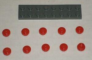 LEGO NEW 1x1 Flat Silver Round Plate Stud 10x 4633691 Brick 6141