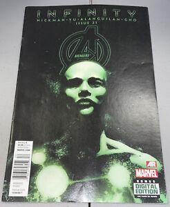 AVENGERS #21 Marvel Infinity RARE Newsstand Variant 2013