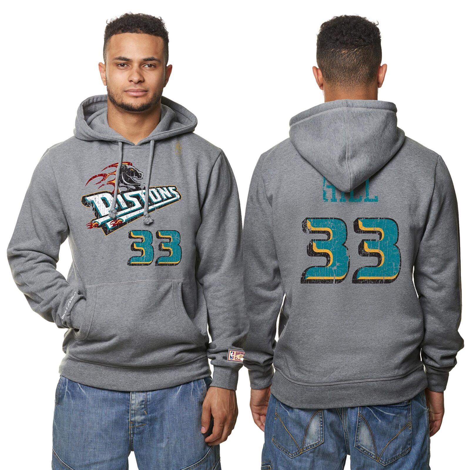 NBA Detroit Pistons Grant Hill Hardwood Basketball Hoodie schweißhemd Herren