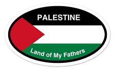 "Palestine Land of My Fathers Flag Oval car window bumper sticker decal 5"" x 3"""