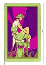 """Single Vintage Playing Card Pin Up """"Pirate Girl"""" Art Deco"""
