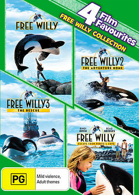 Free Willy Complete Collection (4 Film Favs) * NEW DVD * (Region 4 Australia)