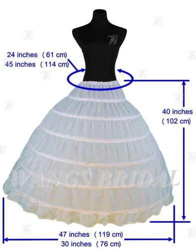 US Stock White Bridal Crinoline//Petticoat//Slip//Underskirt Wedding A Line Mermaid