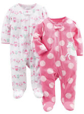 Purple Unicorn Simple Joys by Carters Girls 2-Pack Cotton Footed Sleep and Play 3-6M
