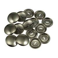 Metal Self Cover Buttons 11mm to 38mm (Brass, Rustproof)