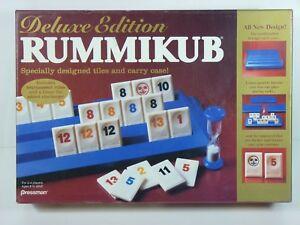Vintage Rummikub Board Game Rummy Cube Deluxe Edition By Pressman