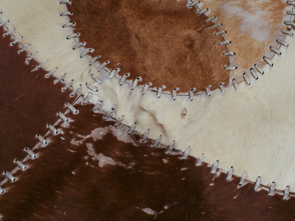 Luxurious Handmade Cowhide Rug (Skin  Leather Carpet) Imported Imported Imported from USA 143cd1