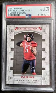 2017-Panini-Knight-School-PM-PSA-10-GEM-MINT-Patrick-Mahomes-Rookie-034-Flawless-034