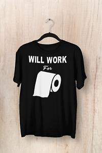 Humor Funny T-Shirt C Virus 19 Pandemic Will Work For Toilet Paper