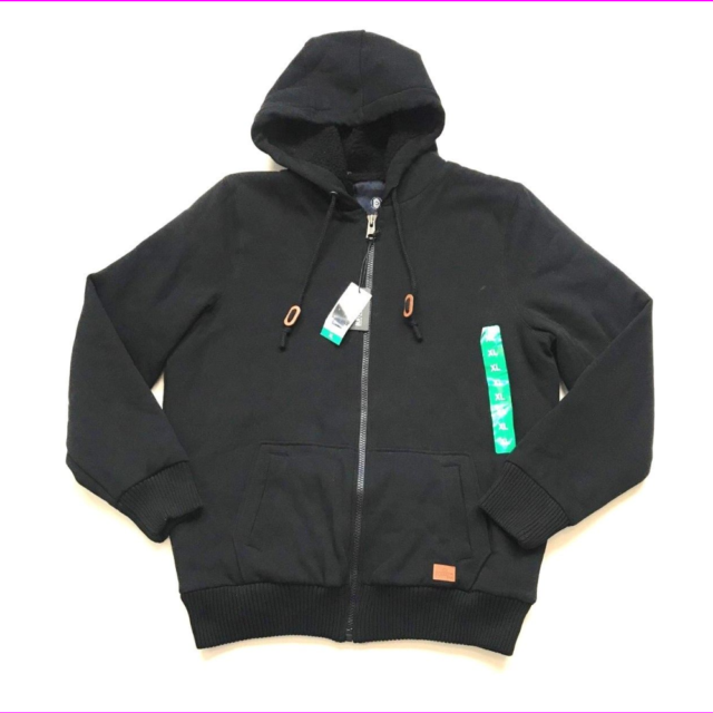 L NEW BUFFALO DAVID BITTON Men/'s Full Zip Sherpa Lined Hoodie M XL