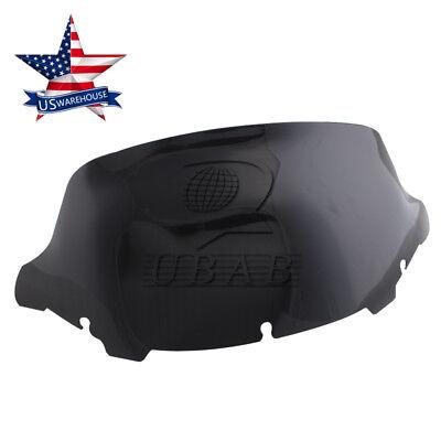 "US 10/"" Wave Windshield Windscreen For Harley Electra Glide Street 14-15 16 Black"