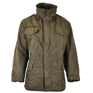 Genuine-Austrian-army-M65-jacket-GoreTex-military-olive-OD-Parka-waterproof-NEW