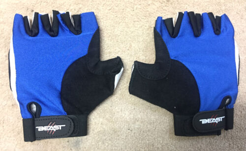 Stretchy Weight Lifting Gloves BLUE Body Building Cycling MMA Grappling Fighting