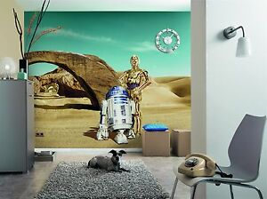 Wall Mural Photo Wallpaper Star Wars Lost Droids Robots Kids Room