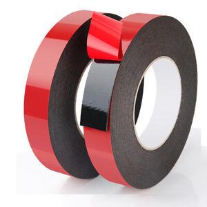 Details about Black Double Sided Foam Self Adhesive Tape Automotive  Permanent Car Body Trim