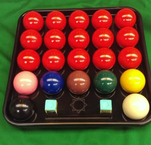 22 BALL SNOOKER OR BILLIARD 2 1/16 BALL TRAY. GOOD QUALITY STRONG BLACK TRAY