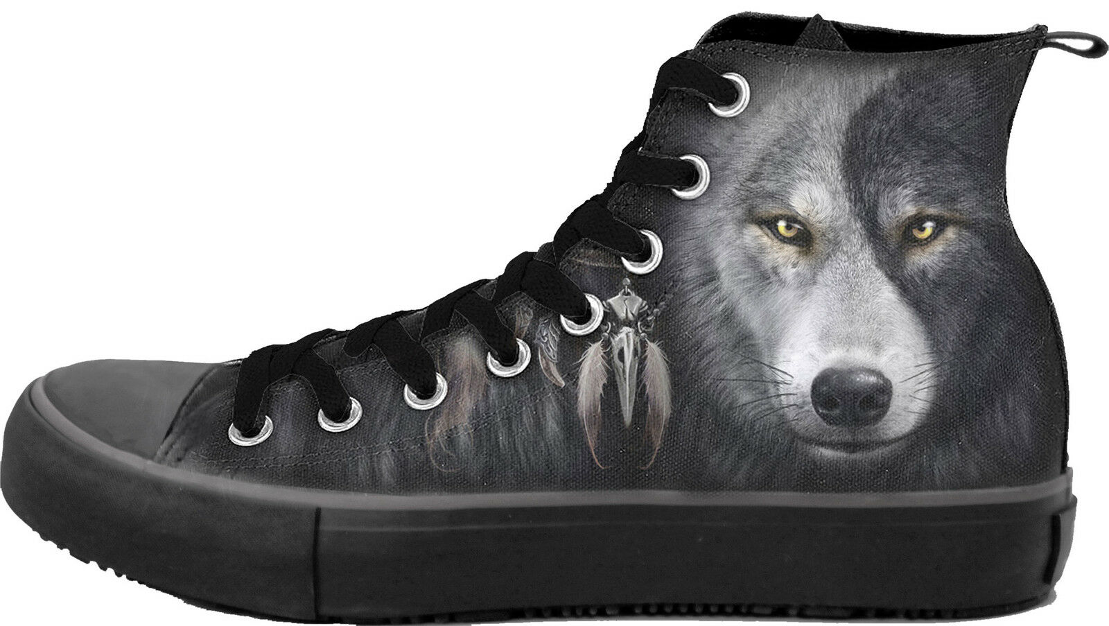 Spiral Men'S Wolf Chi, Sneakers - Men'S Spiral High Top LaceupYin Yang|Mystical 5afefd