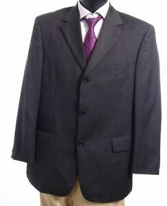 HUGO BOSS Sakko Jacket Da Vinci Gr.27 grau uni Einreiher 3-Knopf -S463