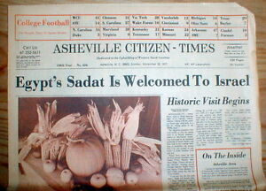 3 newspapers 1977 & 1981 SADAT makes PEACE w ISRAEL is ASSASSINATED by ISLAMISTS