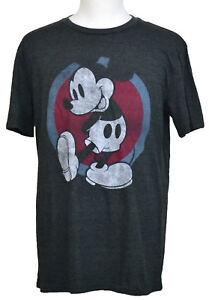 b3ecf1df9 Mickey Mouse T-shirt Classic Disney Cartoon Shy Pose Graphic Tee ...