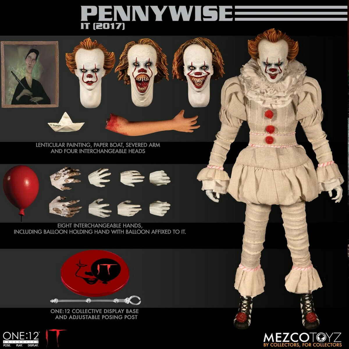 Mezco Toyz 77520 1 12 Scale Pennywise Collectible Action Figure Model Toys
