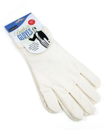 Eddingtons White Butler Gloves Suitable For Allergy Sufferers /& Hobbyists Etc