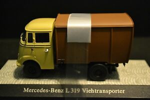 Mercedes-Benz-L319-Cattle-Transporter-1954-Limited-Rare-Diecast-in-scale-1-43