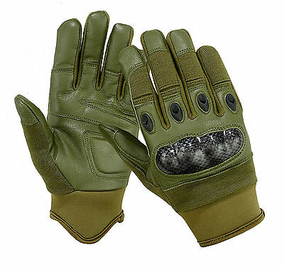 TACTICAL CARBON FIBER HARD KNUCKLE ASSAULT SHOOTING GLOVES ARMY POLICE AIRSOFT