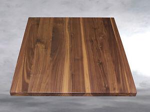 tischplatte platte nussbaum massiv holz ge lt ebay. Black Bedroom Furniture Sets. Home Design Ideas
