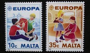 Europa-children-039-s-games-stamps-1989-Malta-SG-ref-849-amp-850-2-stamps-MNH