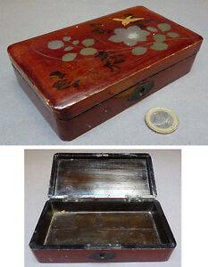 Boite en bois et laque du Japon vers 1900 1920 Japan box Hhy322Nl-07215147-532983222