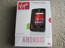 New LG Optimus Slider Virgin Mobile Smartphone 3G & Wi-Fi (No-Contract) Black
