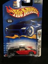 NIP Hot Wheels 2003 First Editions 18/42 Red & Black Bugatti Veyron #030