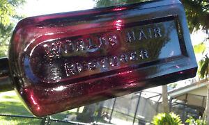 CIRCA-1860-039-S-70-039-S-PUCE-ANTIQUE-MRS-S-A-ALLEN-039-S-HAIR-RESTORER-BOTTLE-ORIGIONAL