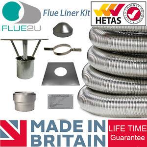 Sensational Details About Stove Flue Liner Kit Multifuel Chimney Liner Stainless Steel Flue 316 Grade Home Remodeling Inspirations Genioncuboardxyz