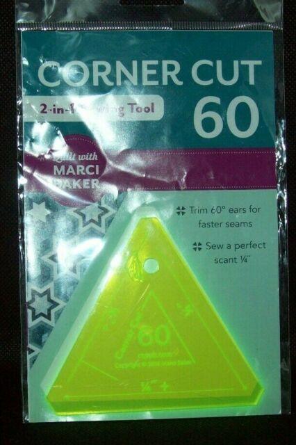 C/&T Publishing CTP20342 Notions Ruler Corner Cut 60 Degree Sewing Tool