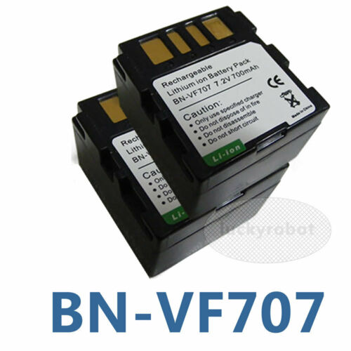 2 pack  Battery for JVC BN-VF707U BN-VF714U BN-VF733U Everio GZ-MG21U GZ-MG20U
