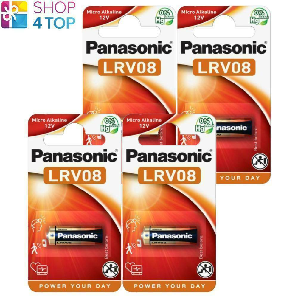 4 panasonic cell power alkaline batteries 23a lrv08 mn21 12v 23ga e23a new