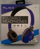 Slick Foldable Headphones Blue S Series Hp555bl