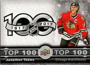 2017-18-Upper-Deck-Tim-Hortons-Top-100-TOP2-Jonathan-Toews